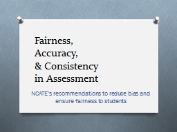 Fairness,  Accuracy,  & Consistency