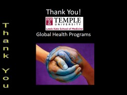 Thank You! Global Health Programs