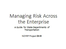 Managing Risk Across the Enterprise