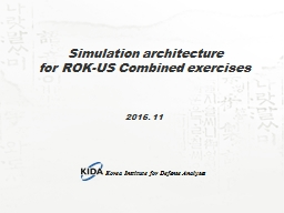 Simulation architecture