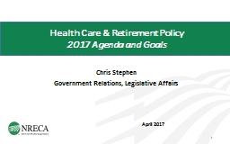 Health Care & Retirement Policy