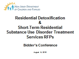 Residential Detoxification