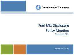 Fuel Mix Disclosure Policy Meeting