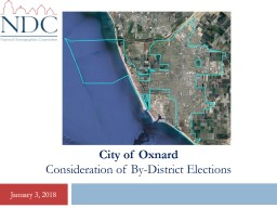 City of Oxnard Consideration of By-District Elections