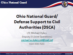 Ohio National Guard/ Defense Support to Civil Authorities (DSCA)