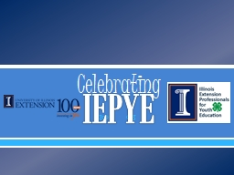 IEPYE Celebrating Who is this?