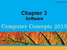 Chapter 3 Software Chapter Contents