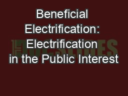 Beneficial Electrification: Electrification in the Public Interest