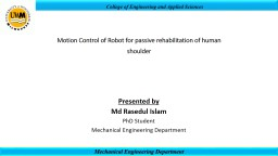 College of Engineering and Applied Sciences PowerPoint PPT Presentation