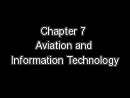Chapter 7 Aviation and Information Technology