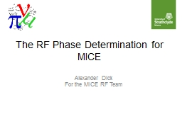 The RF Phase Determination for MICE