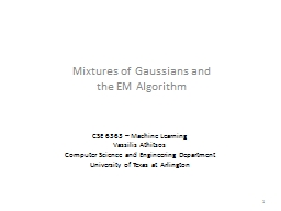 Mixtures  of Gaussians and