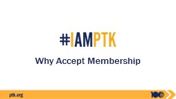 Why Accept Membership Our Mission