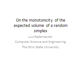 On the monotonicity of the expected volume of a random simplex