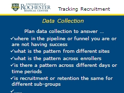 Data Collection Plan data collection to answer …
