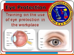 Eye Protection Training on the use of eye protection in the workplace