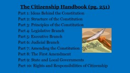 The Citizenship Handbook (pg. 251)