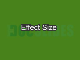 Effect Size & Power Analysis   G*Power