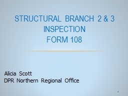 1 Structural Branch 2 & 3 Inspection