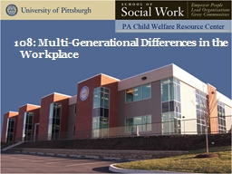 521: Quarterly Practice Session: Multi-generational Differences in the Workplace