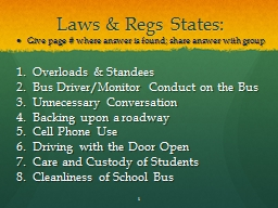 Laws &  Regs  States: