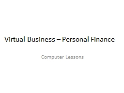 Virtual Business – Personal Finance
