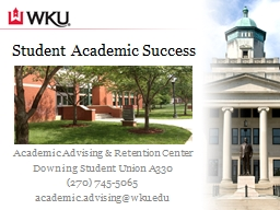 Student Academic Success PowerPoint PPT Presentation