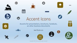 Accent Icons Accents for presentations, brochures, handouts,