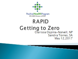 RAPID  Getting to Zero Clarissa PowerPoint PPT Presentation
