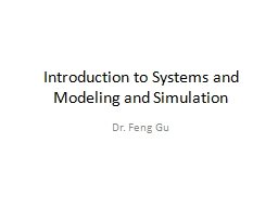 Introduction to Systems and Modeling and Simulation