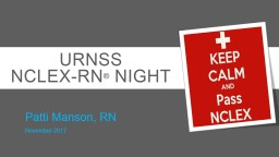 URNSS NCLEX-RN ®  Night
