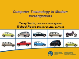 Computer Technology in Modern Investigations PowerPoint PPT Presentation