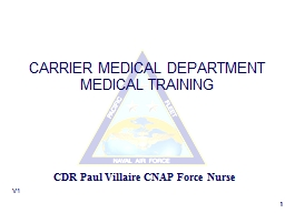 1 V1 CARRIER MEDICAL DEPARTMENT