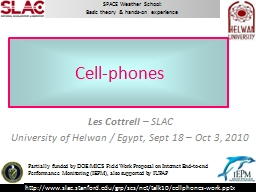 How cell phones work Les Cottrell