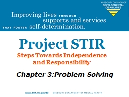 Project STIR Steps  Towards Independence PowerPoint PPT Presentation