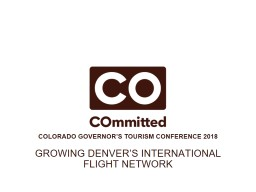 Growing Denver's international flight network