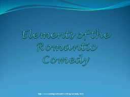 Elements of the Romantic