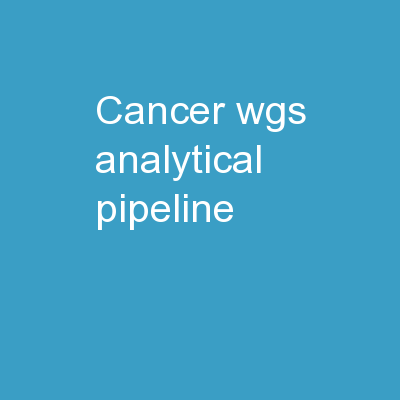 Cancer WGS Analytical Pipeline