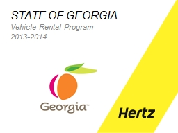 STATE OF GEORGIA Vehicle PowerPoint PPT Presentation