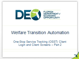 Welfare Transition Automation PowerPoint Presentation, PPT - DocSlides