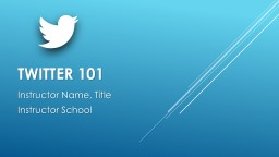 Twitter 101 Jennifer Weaver, Resource Teacher