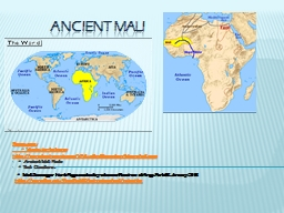 Ancient  Mali Resources: