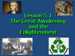 Lesson  5.1  The Great Awakening