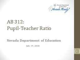 AB 312:  Pupil-Teacher  Ratio