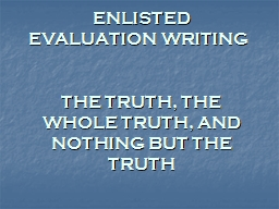 ENLISTED  EVALUATION WRITING
