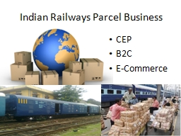 Indian Railways  Parcel Business