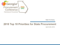 2018 Top 10 Priorities for State Procurement
