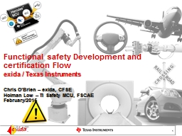 F unctional  safety  Development and certification Flow