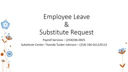 Employee Leave  &  Substitute Request