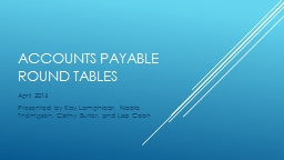 Accounts Payable Round Tables